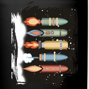 Vintage retro rockets outer space - Full Color Mug