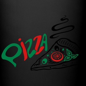 Big slice of Pizza with lettering, Italian food. - Full Color Mug