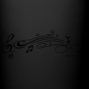 Clef with music notes, modern Tribal Tattoo Style. - Full Color Mug