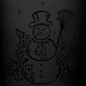 Snowman with christmas tree and gifts. - Full Color Mug