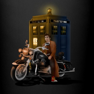 Phone Booth and Big Motorcycle - Full Color Mug