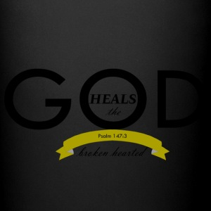 God Heals the Broken Hearted - Full Color Mug