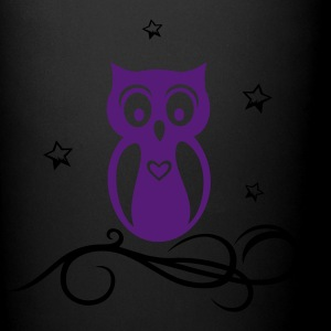 Beautiful owl with stars and heart - Full Color Mug
