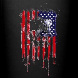 American Flag Skull 4th of July graphic Collection - Full Color Mug