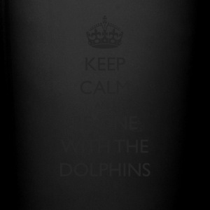 Keep Calm and Be One With The Dolphins Swim Tshirt - Full Color Mug