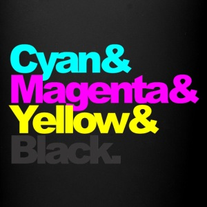 Cyan and Magenta and Yellow and Black - Full Color Mug