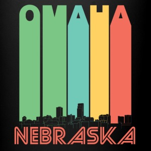 Retro Omaha Nebraska Skyline - Full Color Mug