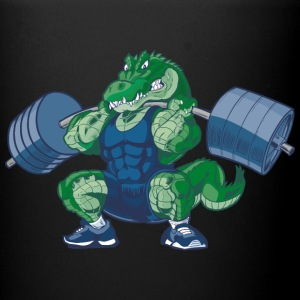 Weight-lifting-Alligator-Cartoon - Full Color Mug