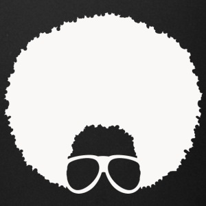 Afro with Glasses #4 (in white) - Full Color Mug