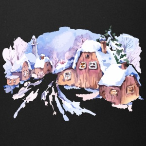 winter-watercolor-landscape-painting-house - Full Color Mug