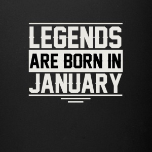 Legends are born in January - Full Color Mug