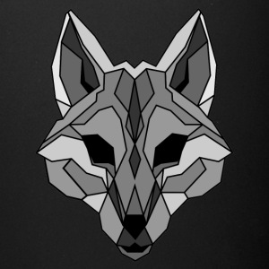 Lineart of a wolf / wolf gray - Full Color Mug