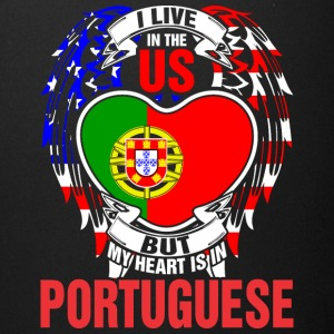 I Live In The Us But My Heart Is In Portuguese - Full Color Mug