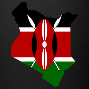 Flag map of Kenya - Full Color Mug