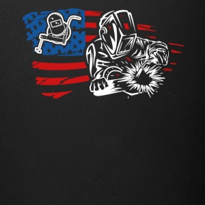 US Flag Welder Tee Shirt - Full Color Mug