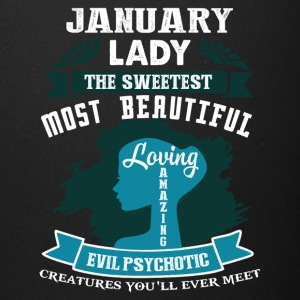 January lady The sweetest Most beautiful - Full Color Mug