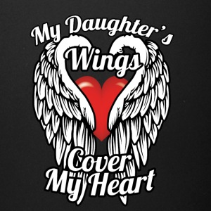 My daughter's wings cover my heart - Full Color Mug