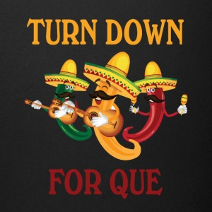 turn down for que - Full Color Mug