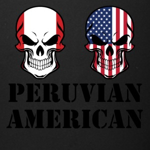 Peruvian American Flag Skulls - Full Color Mug
