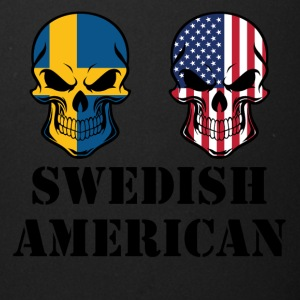 Swedish American Flag Skulls - Full Color Mug