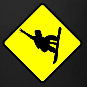 Snowboarder Crossing Sign - Full Color Mug