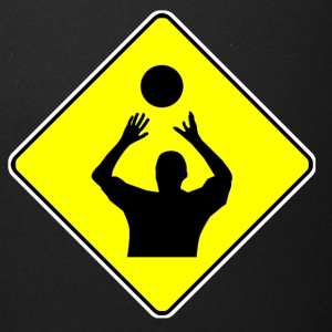 Volleyball Player Crossing Sign - Full Color Mug