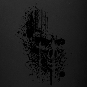 Grunge_skull_black - Full Color Mug