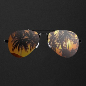 glasses with palm trees - Full Color Mug