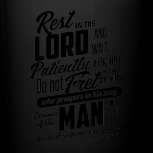 Rest in the Lord Black - Full Color Mug