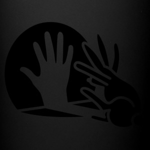 hand shadow rabbit2 - Full Color Mug