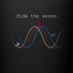 Ride The Waves - Full Color Mug