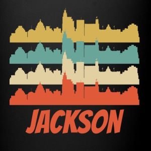 Retro Jackson MS Skyline Pop Art - Full Color Mug