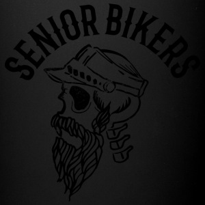 Senior biker skull tatoo inscription - Full Color Mug