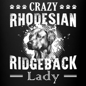 Crazy Rhodesian Ridgeback Lady Shirt - Full Color Mug