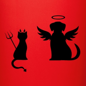 Devilish Cat And Angelic Dog - Full Color Mug