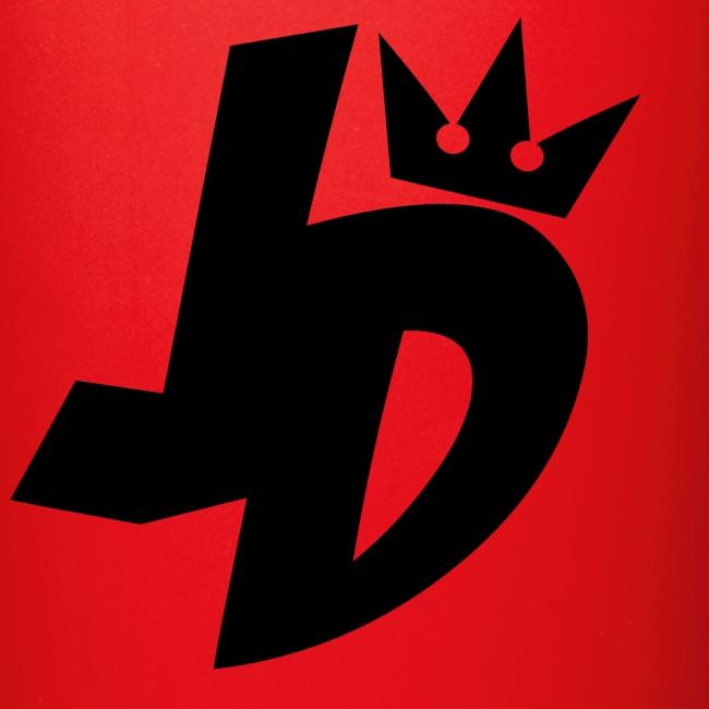 jd logo black full color mug arewhy designs clothing art jd logo black full color mug