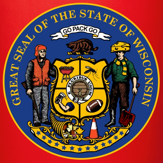 New Wisconsin State Seal Full Color Mug The Afternoon Tee Co