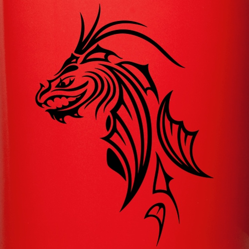 Dragon head in Tribal and Tattoo style  | Mirror Worlds Shop