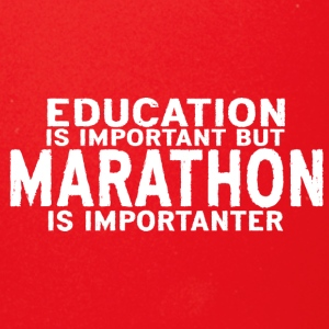 Education is important but Marathon is importanter - Full Color Mug