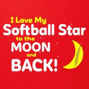 I Love My Softball Star To The Moon And Back Shirt - Full Color Mug