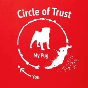 Funny Pug shirt - Circle of Trust - Full Color Mug