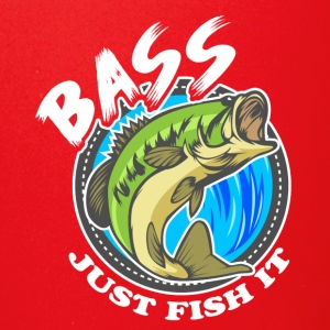 Just Fish It Bass Fishing Tee Shirt - Full Color Mug