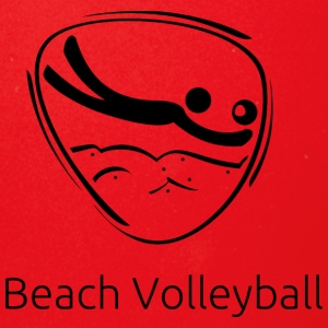 Beach_volleyball_black - Full Color Mug