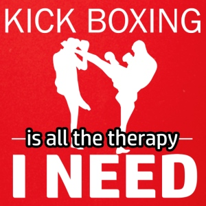Kick Boxing is my therapy - Full Color Mug