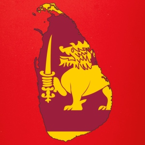 Flag map of sri lanka - Full Color Mug