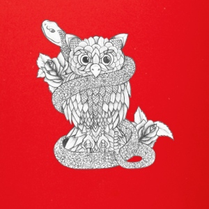 Hand Drawing - Owl with snake - Full Color Mug