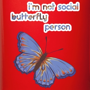 I'am not social butterfly person - Full Color Mug