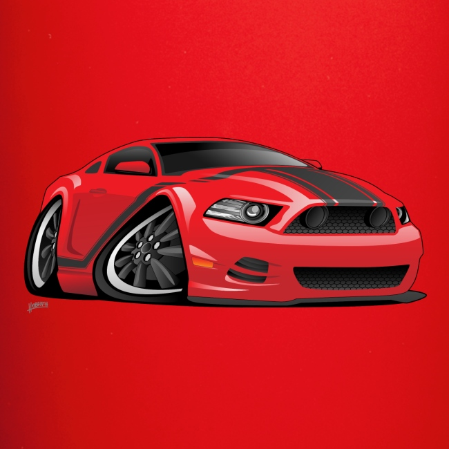 American Muscle Car Cartoon Illustration