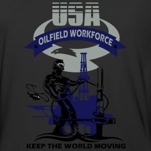USA Oil Rig Workforce Keep The World Moving - Baseball T-Shirt