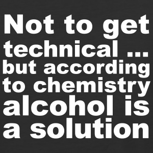 Alcohol Is A Solution - Baseball T-Shirt